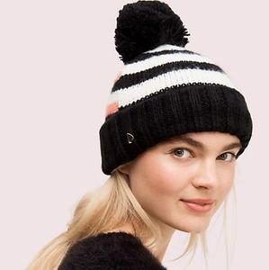 🎉HP🎉 NEW Kate Spade Heritage Stripe Beanie Hat